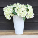 Artificial Green/Off White Hydrangea Stems