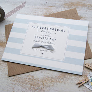 Personalised Christening / Baptism Card - christening cards