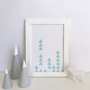 Pastel Triangles Art Print - children's room