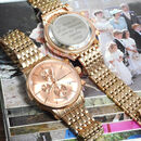 Personalised Women's Rose Gold Coloured Wrist Watch