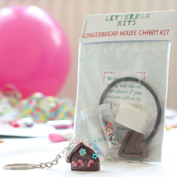 Gingerbread House Jewellery Craft Mini Letterbox Kit