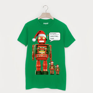 Activate Christmas Mode Men's Christmas Robot T Shirt