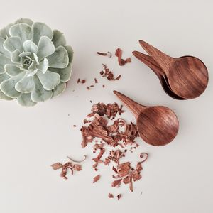 Mninga Wood Sugar Scoop - kitchen