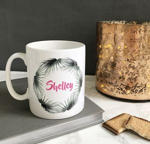 Personalised Foliage Mug