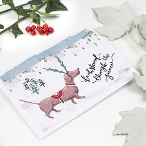Dog Christmas Card Pack - christmas card packs