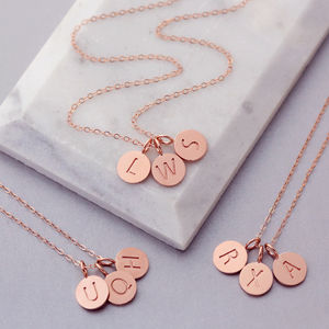 Rose Gold 24 K Triple Disc Necklace - gifts for teenagers