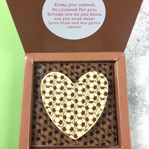 Personalised Message Heart With Football - chocolates & confectionery