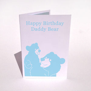 Personalised Bear With Cub Birthday Card - special age birthday cards