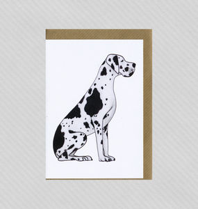 Illustrated Great Dane Blank Card