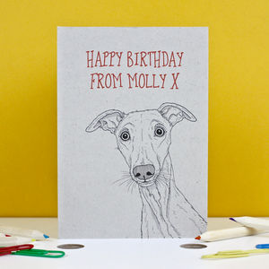 Whippet Birthday Card