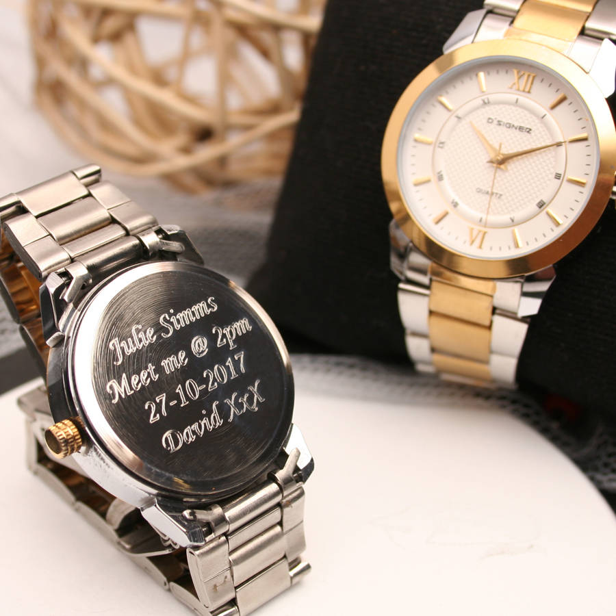 david shop engraving active gentlemans engraved chronograph watches louis ple personalised and watch by harve