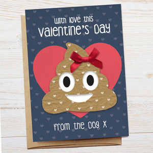 Funny Valentine's Card From The Dog - original valentine's cards