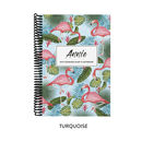 Personalised Flamingo Combined Diary And Notebook