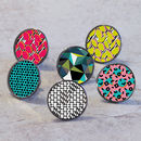 Colourful Geometric Cupboard Door Knobs