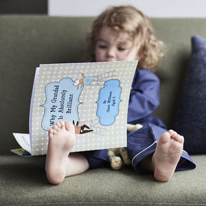 Personalised 'Why My Grandad Is Brilliant' Gift Book - personalised gifts