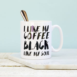 I Like My Coffee Black Mug - sale by category