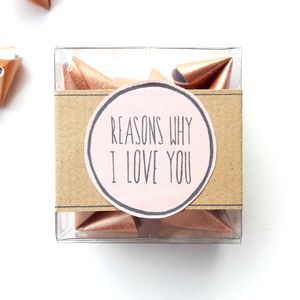 Origami 'Reasons Why I Love You' - just because gifts