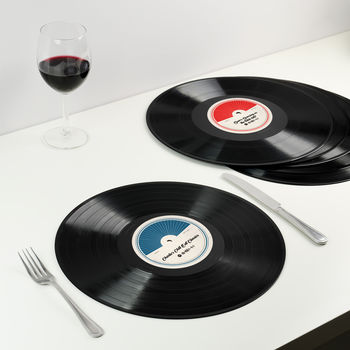 Personalised Dinner Party Playlist Placemats