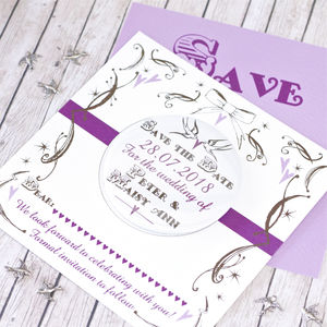 Vintage Lovers Save The Date With Large Magnet