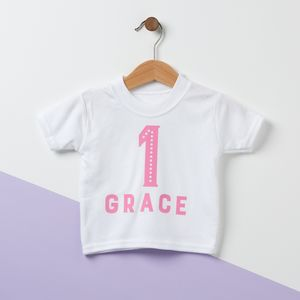 Birthday Personalised Baby T Shirt - clothing