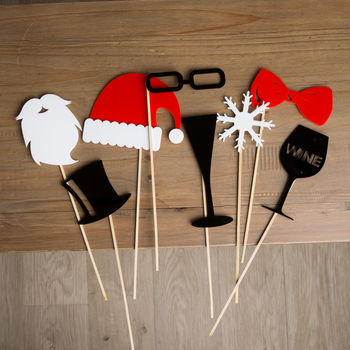 Acrylic Christmas Party Photo Booth Props