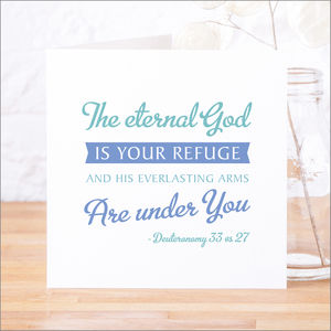'God Is Your Refuge' Contemporary Bible Verse Card