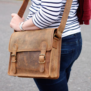 Personalised Mini Leather Satchel - women's accessories