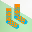 Orange And Blue Polka Dot Sock
