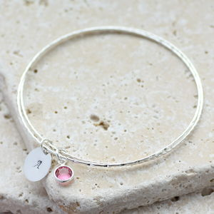 Child's Birthstone Bangle - bracelets
