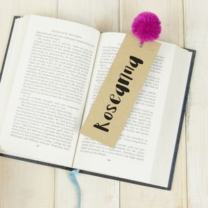 Personalised Pom Pom Bookmark