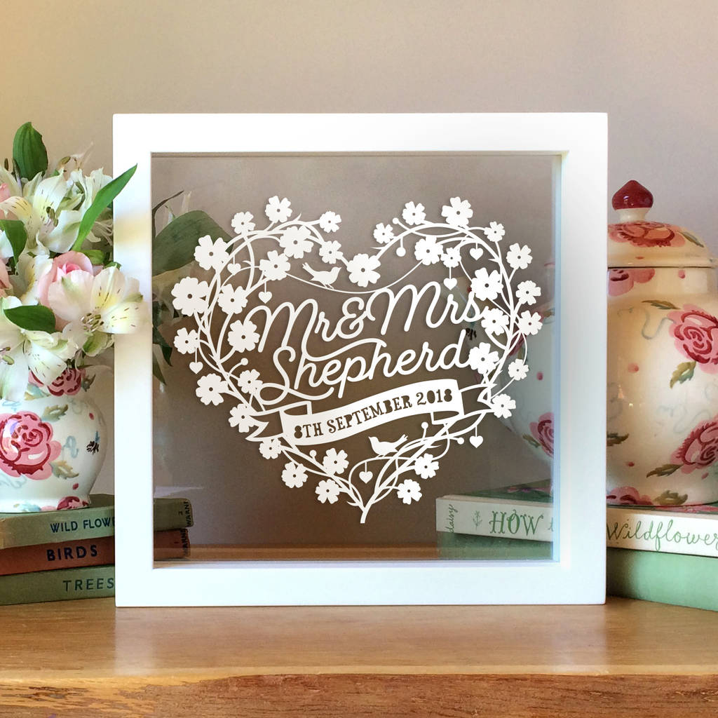Wedding Anniversary Gifts For Her: Personalised 1st Wedding Anniversary Gift By Sas Creative