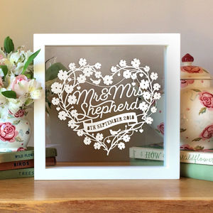 Personalised 1st Wedding Anniversary Gift - mixed media & collage