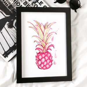 Nursery Print Pink Pineapple Print - baby's room