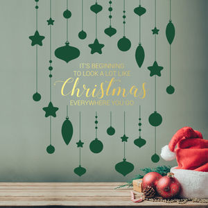 Christmas Song Wall Decal Sticker