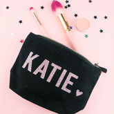Personalised Name Glitter Make Up Bag - what's new