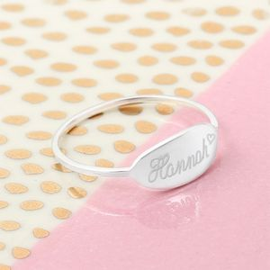 Personalised Sterling Silver Name Ring - rings