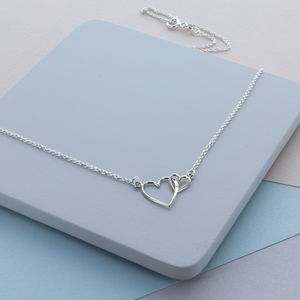 Infinite Hearts Sterling Silver Necklace - new in jewellery