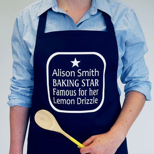 Personalised Baking Star Apron - kitchen accessories