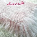 Personalised Large Pink Baby Shawl