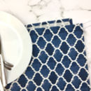 Isabel Tea Towel, Blue Geometric Design