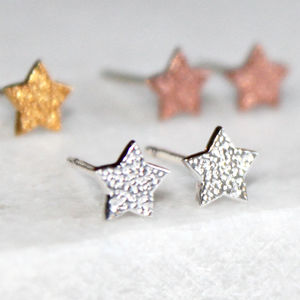Christmas Star Stud Earrings