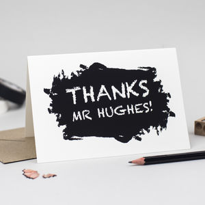 Personalised Thank You Teacher Card - shop by category