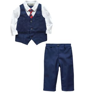 Baby Boy Weddiing Formal Blue Outfit With Tie