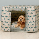 Dog Crate, Cover And Cushion Set Choice Of Five Fabrics
