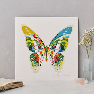 Marble Butterfly Fine Art Print - marble inspired trend