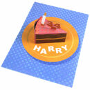 Personalised Pop Up Birthday Cake Card With Pink Icing