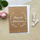 Maid Of Honour Thank You Card