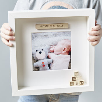 Personalised Building Block Framed Print