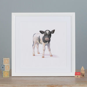 Illustrated Cow Print