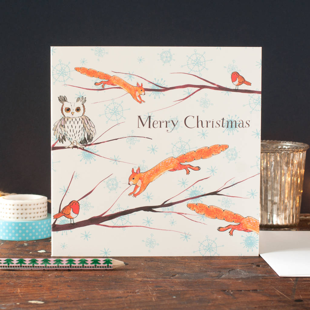Personalised Winter Woodland Christmas Cards